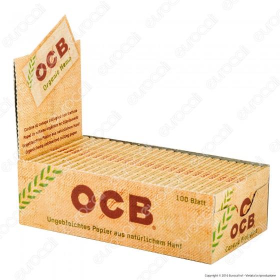 Cartine Ocb Organic Hemp Corte Doppie Canapa Biologica - Scatola da 25 Libretti