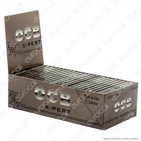 Cartine Ocb X-Pert Argento Corte Doppie - Scatola da 25 Libretti