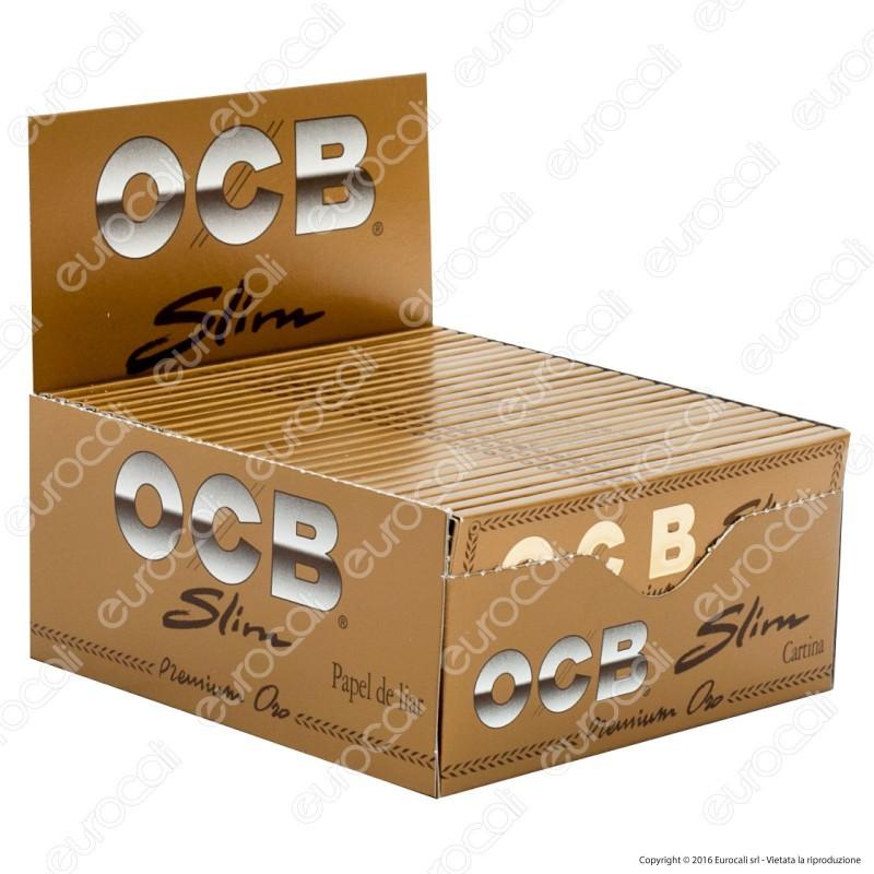 Cartine Ocb Premium Oro King Size Lunghe Slim - Scatola da 50 Libretti
