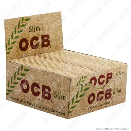 Cartine Ocb Organic Hemp King Size Slim Canapa Biologica Lunghe - Scatola da 50 Libretti