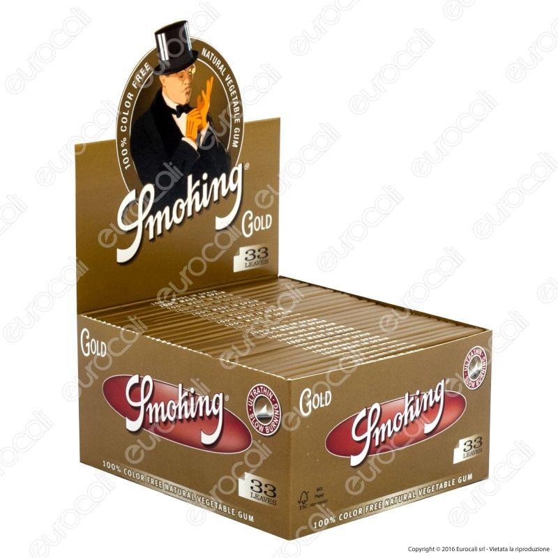 Cartine SMOKING ROLLS BROWN LUNGHE scatola da 24 pacchetti