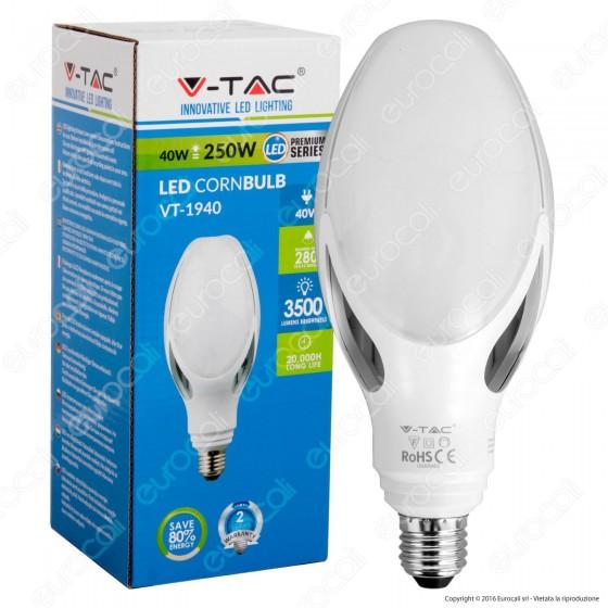 V-Tac VT-1940 Lampadina LED E27 40W Bulb Cornbulb - SKU 7133 / 7134