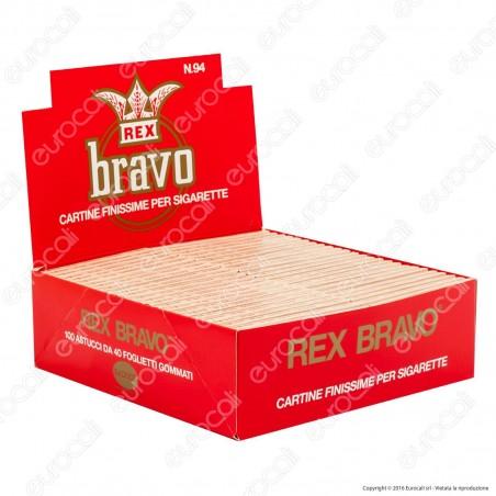 Cartine Bravo Rex Corte Finissime - Scatola da 100 Libretti