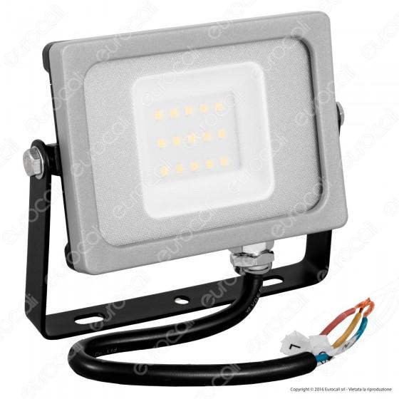 V-Tac VT-4911 Faretto LED SMD 10W Ultra Sottile da Esterno Colore Grigio - SKU 5774 / 5775