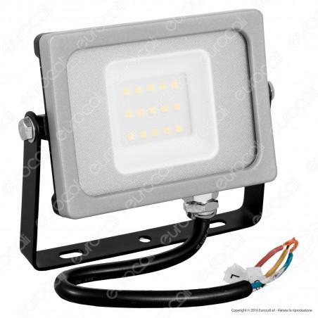 V-Tac VT-4911 Faretto LED SMD 10W Ultra Sottile da Esterno Colore Grigio - SKU 5774 / 5775 / 5776