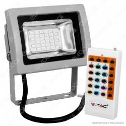 V-Tac VT-4711 RGB Multicolore Faretto LED 30W da Esterno con Telecomando Radiofrequenza - SKU 5894