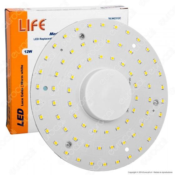Life Modulo LED Circolina con Magnete per Plafoniere 12W Ø140mm