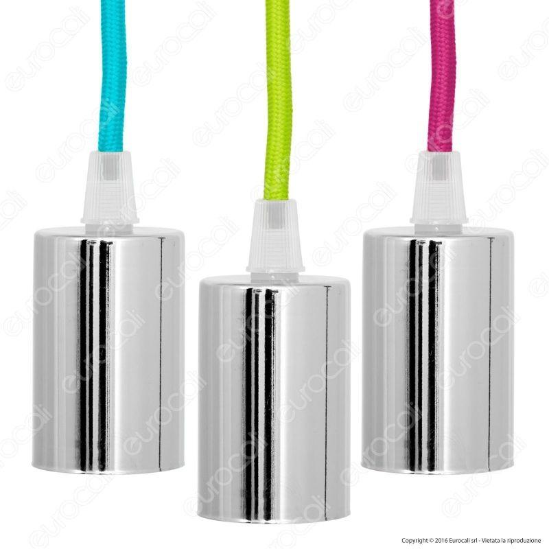 V tac vt 7338 lampadario a sospensione in metallo per for Portalampada led