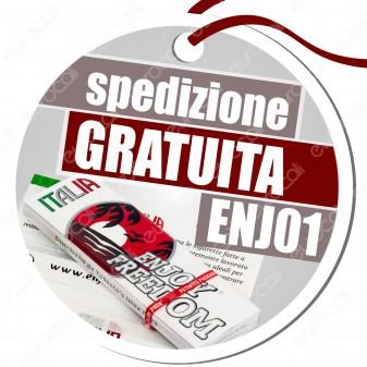 Spedizione Gratuita su Tutto l'Ordine Acquistando un Box di Cartine Enjoy Freedom Italia Corte