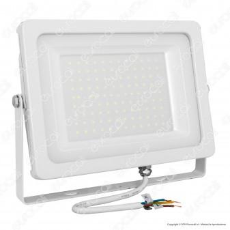 V-Tac VT-49100 Faretto LED SMD 100W Ultrasottile da Esterno Colore Bianco - SKU 5843 / 5844 / 5845