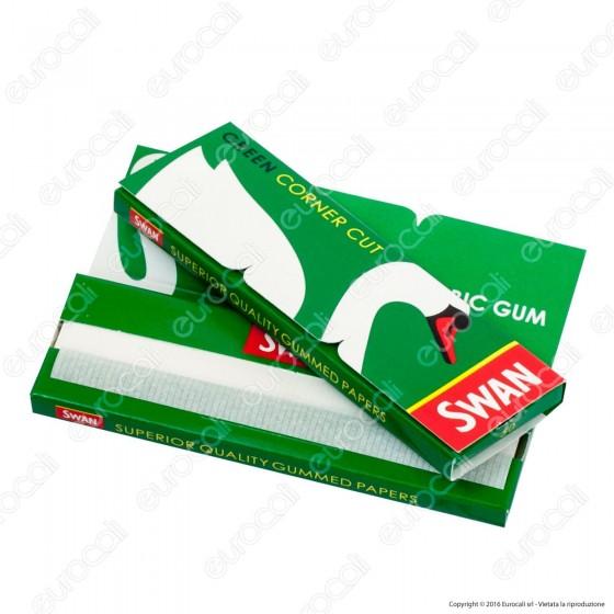 Cartine Swan Verdi Corner Cut Corte Green - Libretto