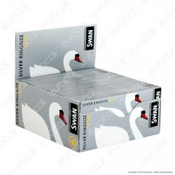 Cartine Swan Argento King Size Slim Lunghe Silver - Scatola da 50 Libretti