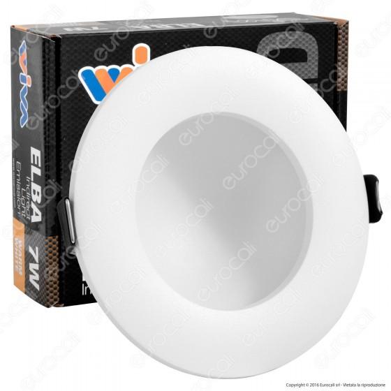 Wiva Pannello LED mod. ELBA da Incasso Rotondo 7W con Driver