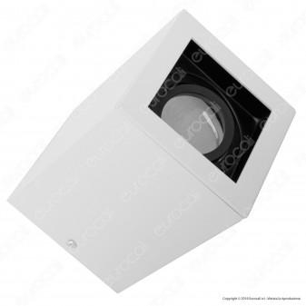 V-Tac VT 797 Portafaretto Orientabile Quadrato Bianco da Soffitto per Lampadine GU10 e GU5.3 - SKU 3630