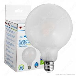 V-Tac VT-2067 Lampadina LED E27 7W Globo G125 Frost Filamento - SKU 7189 / 7190