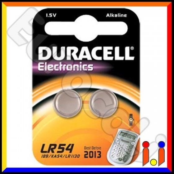 Duracell Alcalina LR54 V10GA Pile 1,5V - Blister 2 Batterie