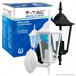 V-Tac VT-749 Portalampada da Giardino Wall Light da Muro per Lampadine E27 - SKU 7067 / 7066