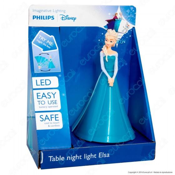 Philips 3D Lampada da Tavolo LED Disney Frozen Elsa a Batteria