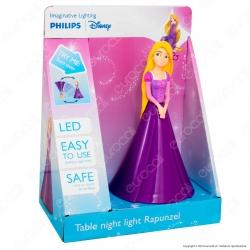 Philips Lampada da Tavolo LED Disney Rapunzel 3D a Batteria