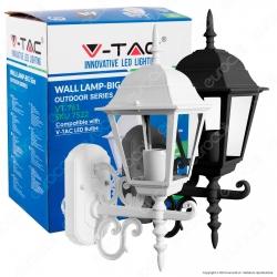 V-Tac VT-761 Portalampada da Giardino Wall Light da Muro per Lampadine E27 - SKU 7522 / 7521