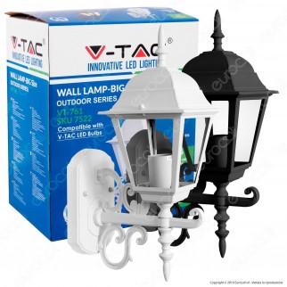 V-Tac VT-760 Portalampada da Giardino Wall Light da Muro per Lampadine E27 - SKU 7522 / 7521