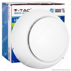 V-Tac VT-757 Lampada da Muro Wall Light LED 5W Forma Circolare Colore Bianco - SKU 7086 / 7093