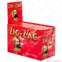 Cartine Zig Zag Rosse Corte Red - Scatola da 100 Libretti