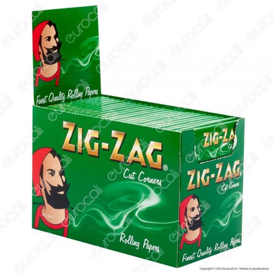Cartine Zig Zag Verdi Corte Green - Scatola da 100 Libretti