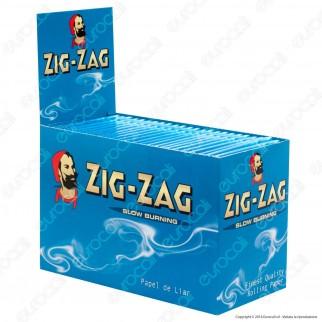 Cartine Zig Zag Blu Corte Blue- Scatola da 100 Libretti