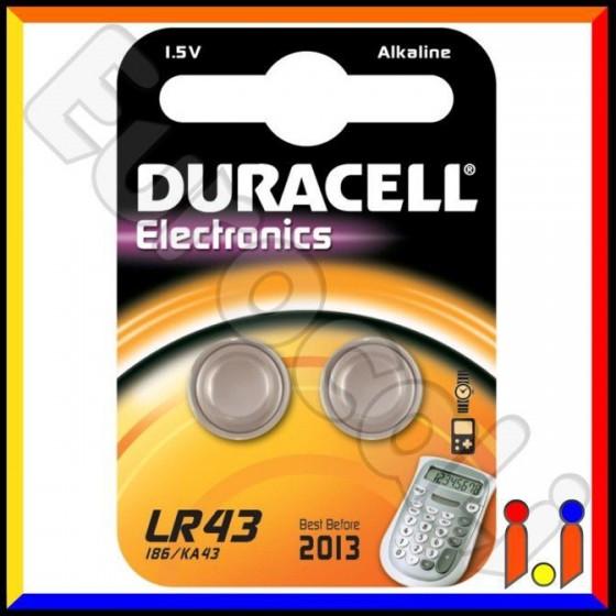 Duracell Alcalina LR43 V12GA Pile 1,5V - Blister 2 Batterie