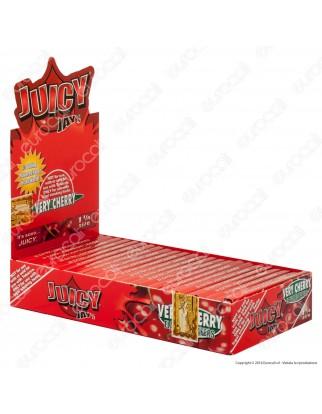 Cartine Juicy Jay's Corte 1¼ Aroma Ciliegia - Scatola da 24 Libretti
