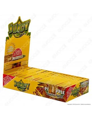 Cartine Juicy Jay's Corte 1¼ Aroma Ananas - Scatola da 24 Libretti