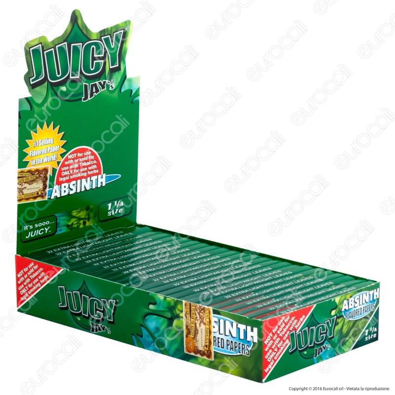 Cartine Juicy Jay's Corte 1¼ Aroma Assenzio - Scatola da 24 Libretti
