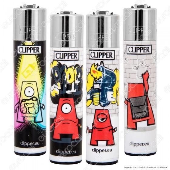 Clipper Large Fantasia Little Graffiter - 4 Accendini