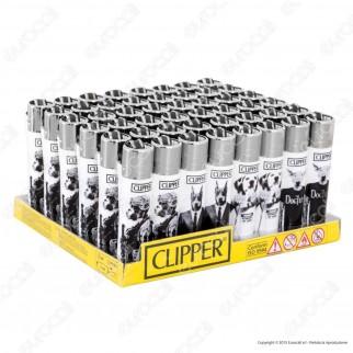Clipper Large Fantasia Doggies - Box da 48 Accendini