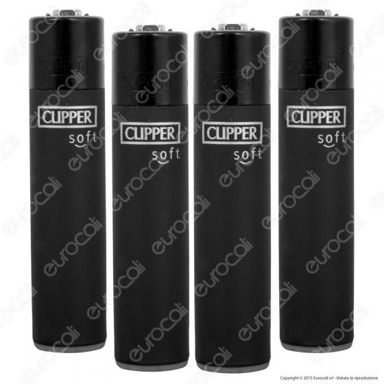 Clipper Large Fantasia Soft Black - 4 Accendini