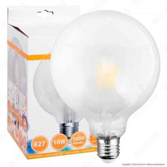 SkyLighting Lampadina LED E27 10W Globo G125 Frost Filamento