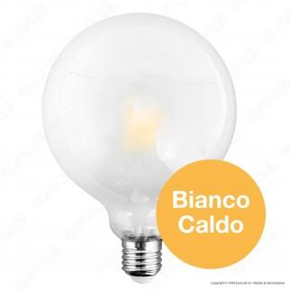 SkyLighting Lampadina LED E27 10W Globo G125 Frost Filamento Dimmerabile
