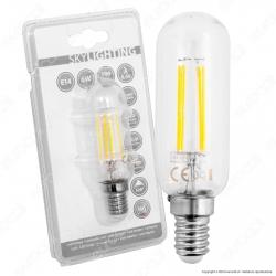 SkyLighting Lampadina LED E14 6W Tubolare a Filamento - mod. T30-1406C / T30-1406D / T30-1406F