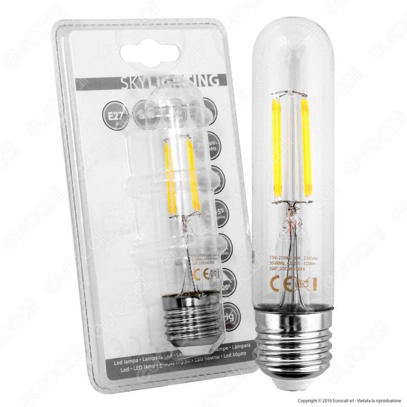 Lampadina led skylighting e27 da 6w tubolare a filamento for Lampade a led e 27
