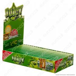 Cartine Juicy Jay's Corte 1¼ Aroma Mela Verde - Scatola da 24 Libretti
