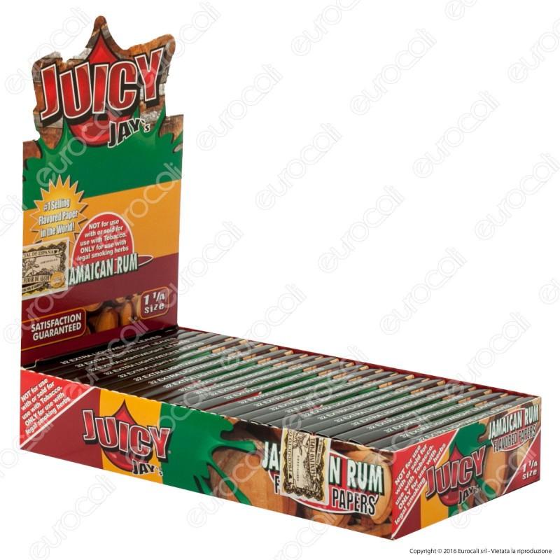Cartine Juicy Jay's Corte 1¼ Aroma Rum Giamaicano - Scatola da 24 Libretti