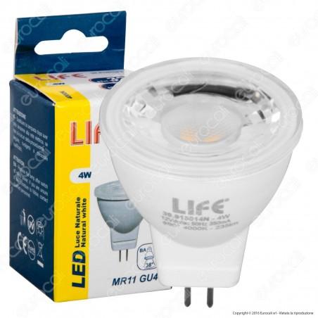 Life Lampadina LED GU4 4W Mini Faretto MR11 12V - mod. 39.915014C / 39.915014N