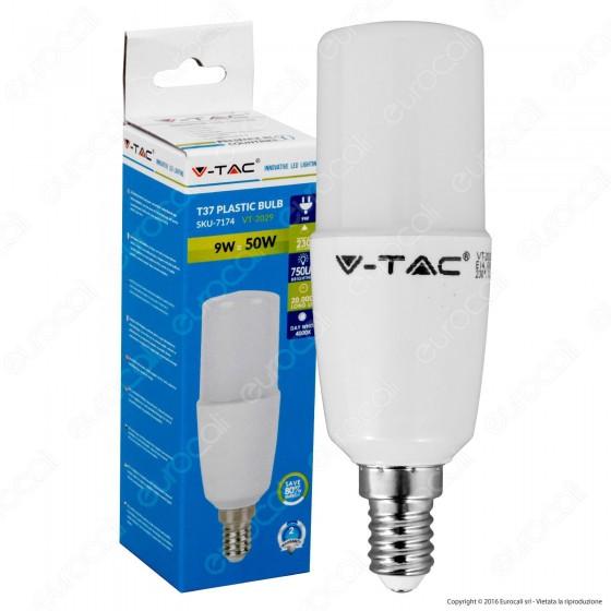 V-Tac VT-2029 Lampadina LED E14 9W Tubolare T37 - SKU 7173 / 7174
