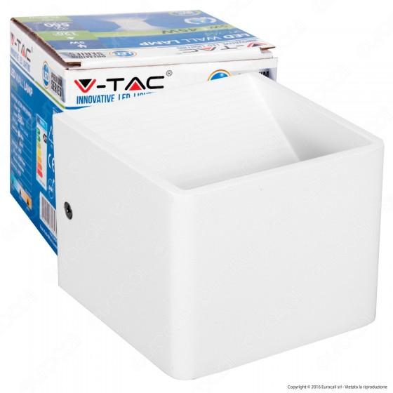 V-Tac VT-758 Lampada LED da Muro Wall Light Grigia 6W - SKU 7085 / 7095