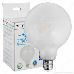 V-Tac VT-2067D Lampadina LED E27 7W Globo G125 Frost Filamento Dimmerabile - SKU 7191