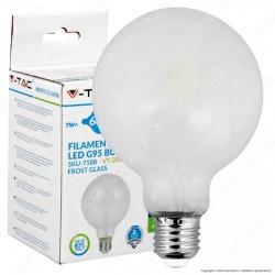 V-Tac VT-2057 Lampadina LED E27 7W Globo G95 Frost Filamento - SKU 7187 / 7188