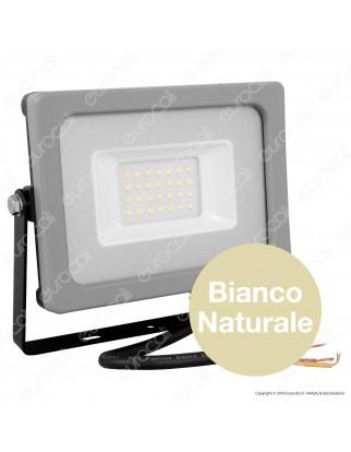 V-Tac VT-4922 Faretto LED SMD 20W Ultra Sottile da Esterno Colore Grigio e Nero - SKU 5793