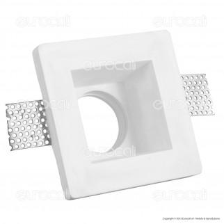 V-Tac VT 763SQ Portafaretto Quadrato da Incasso in Gesso per Lampadine GU10 e GU5.3 - SKU 3649