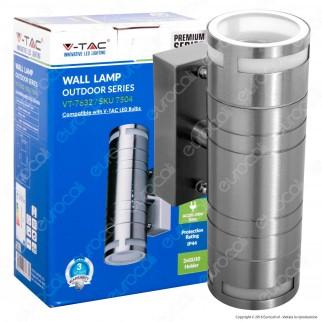 V-Tac VT-7621 Portalampada Doppio Wall Light da Muro per 2 Lampadine GU10 - SKU 7504